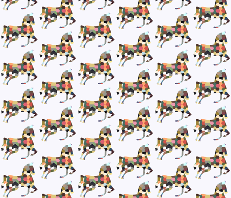 geofetti horse fabric by nature_guild on Spoonflower - custom fabric