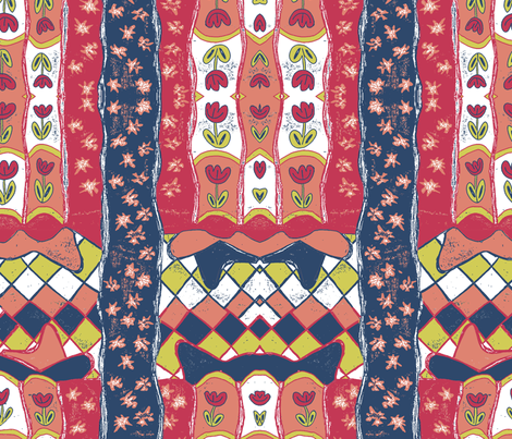 Happy Matisse fabric by lucybaribeau on Spoonflower - custom fabric