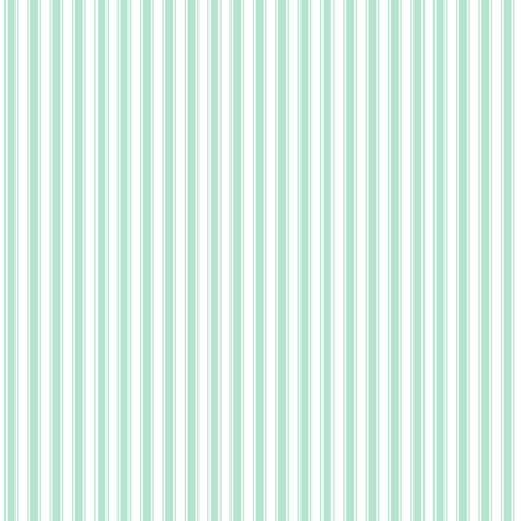 ticking stripes mint green fabric by misstiina on Spoonflower - custom fabric