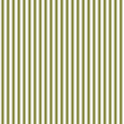 ticking stripes olive green and white fabric by misstiina on Spoonflower - custom fabric
