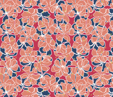 Faintly Floral fabric by holly_helgeson on Spoonflower - custom fabric
