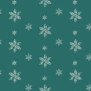 Spiral Snow- green