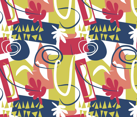 Matisse Anfitrite fabric by designedtoat on Spoonflower - custom fabric