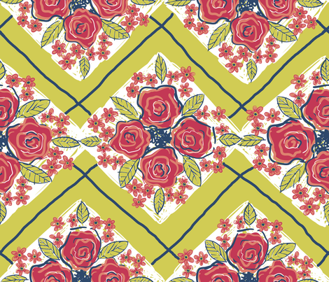 MATISSE inspired FLOWERS required fabric by bzbdesigner on Spoonflower - custom fabric