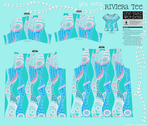 Sea Weeds Storey Riviera Tee fabric by wiccked on Spoonflower - custom fabric