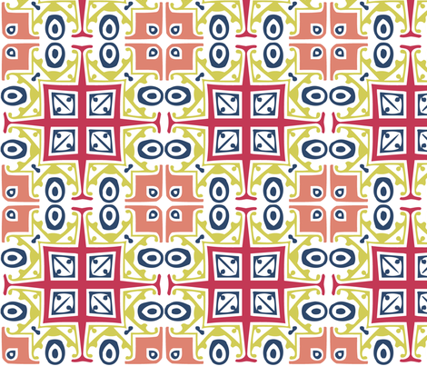 Matisse Style - White Background. fabric by glanoramay on Spoonflower - custom fabric