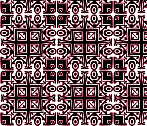 Matisse Style - Black with Pink fabric by glanoramay on Spoonflower - custom fabric