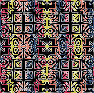 Matisse Style - Black with Coloured Background