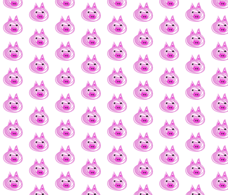 Pig  fabric by larsdotter on Spoonflower - custom fabric