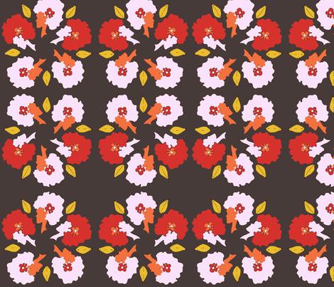 Afro_Flora_Matisse-Retro fabric by pink_koala_design on Spoonflower - custom fabric