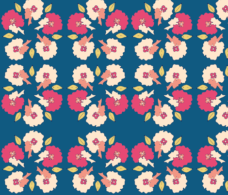 Afro_Flora_Matisse-Tranquil fabric by pink_koala_design on Spoonflower - custom fabric