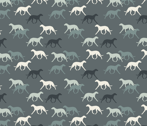 Deerhounds fabric by lobitos on Spoonflower - custom fabric