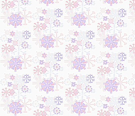 Neon Snowflake fabric by pink_koala_design on Spoonflower - custom fabric