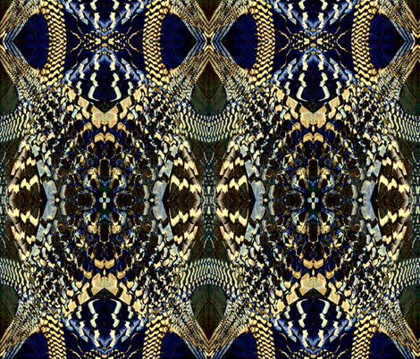 Snake Mosaic fabric by whimzwhirled on Spoonflower - custom fabric