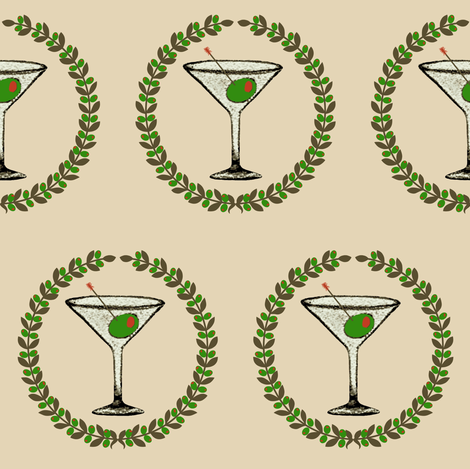 Shaken not stirred  fabric by paragonstudios on Spoonflower - custom fabric