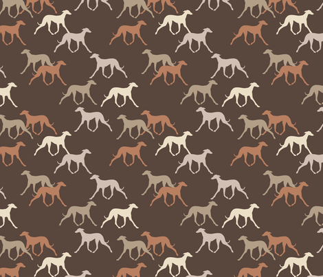 Sloughis fabric by lobitos on Spoonflower - custom fabric