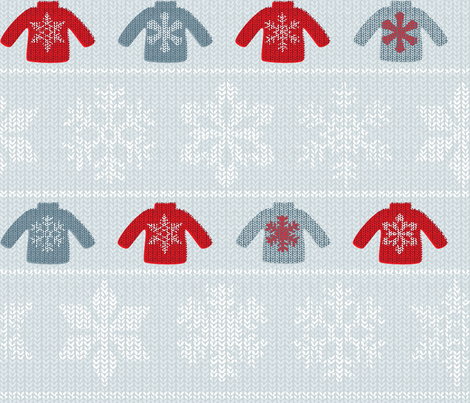 Snowflake Sweaters fabric by jwitting on Spoonflower - custom fabric