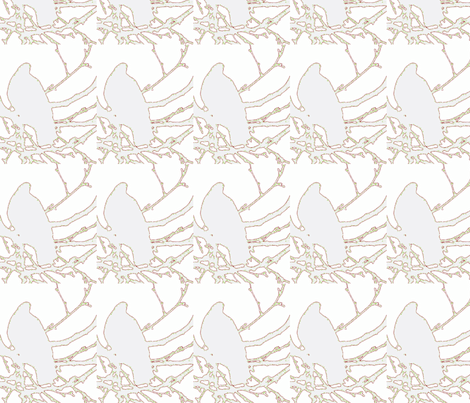 Peace Partridge fabric by katiemadeit on Spoonflower - custom fabric