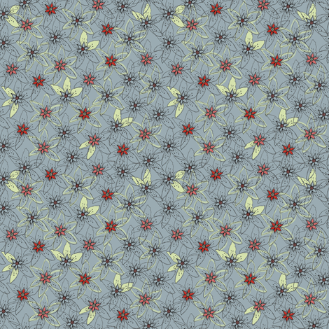 Ruffed flowers  fabric by prunis_dulcis on Spoonflower - custom fabric