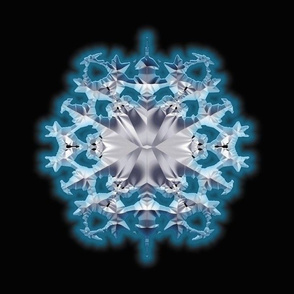 Blue Flame Snowflake 2