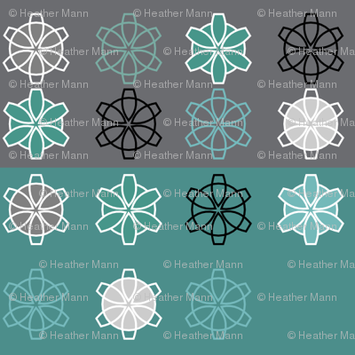 Retro Geometric Snowflakes