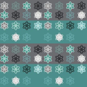 Retro Geometric Snowflakes