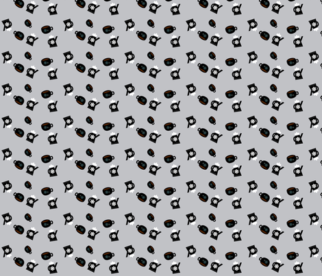 Good Morning Coffee fabric by heathermann on Spoonflower - custom fabric