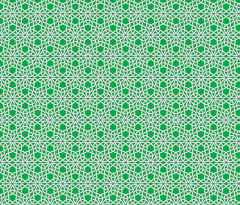 Triangle Knot Green fabric by shala on Spoonflower - custom fabric