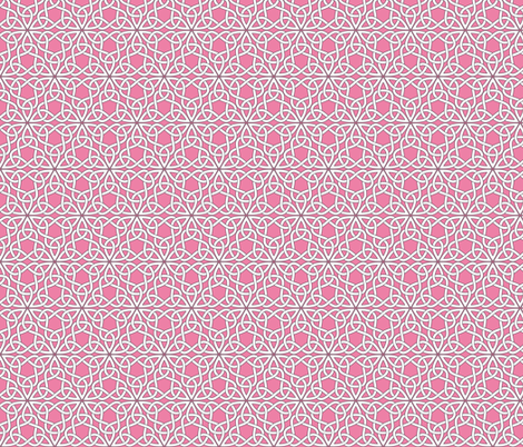 Triangle Knot Pink fabric by shala on Spoonflower - custom fabric