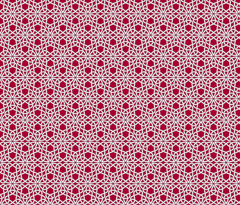 Triangle Knot Red fabric by shala on Spoonflower - custom fabric