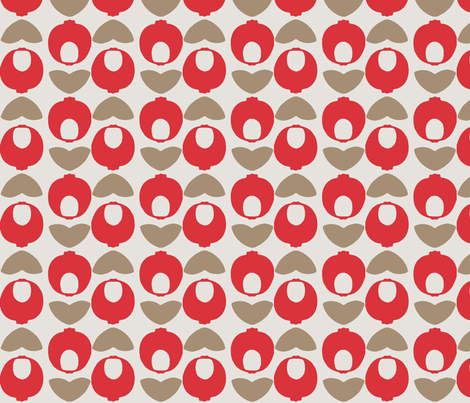 Modern POM-Apple fabric by pink_koala_design on Spoonflower - custom fabric