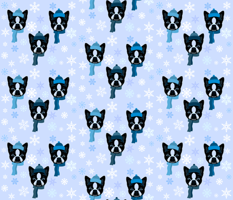 WINTER BLUES fabric by bluevelvet on Spoonflower - custom fabric