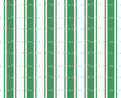 ticking stripes kelly green