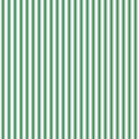 ticking stripes green and white