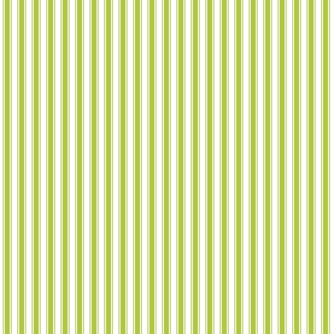 ticking stripes lime green and white