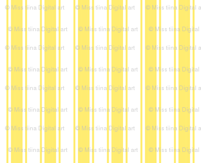 ticking stripes yellow