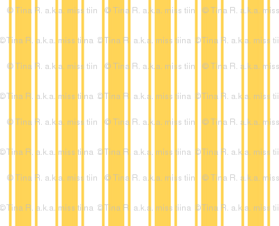 ticking stripes yellow and white
