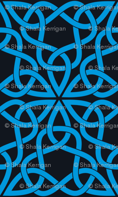 Triangle Knot Blue and Black