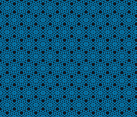 Triangle Knot Blue and Black fabric by shala on Spoonflower - custom fabric