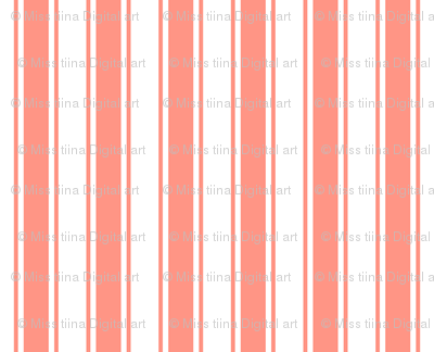 ticking stripes peach