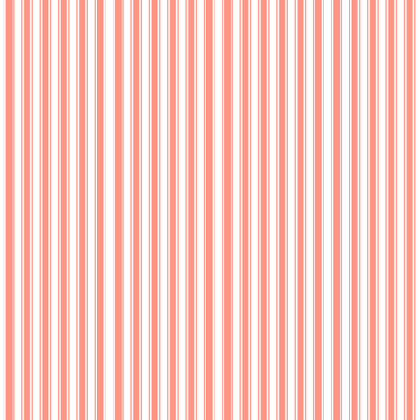 ticking stripes peach fabric by misstiina on Spoonflower - custom fabric