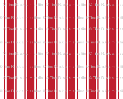 ticking stripes red and white