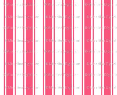ticking stripes hot pink