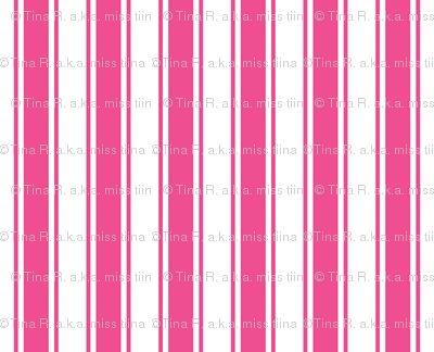ticking stripes dark pink and white