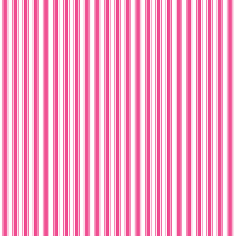 ticking stripes dark pink and white fabric by misstiina on Spoonflower - custom fabric
