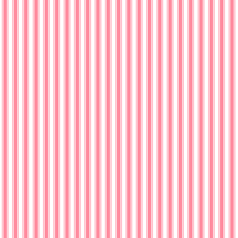 ticking stripes pretty pink and white fabric by misstiina on Spoonflower - custom fabric