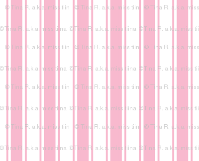 ticking stripes light pink and white