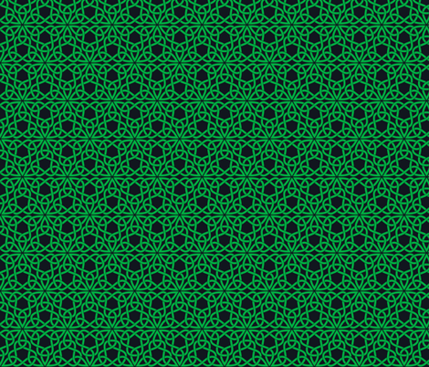 Triangle Knot Green and Black fabric by shala on Spoonflower - custom fabric