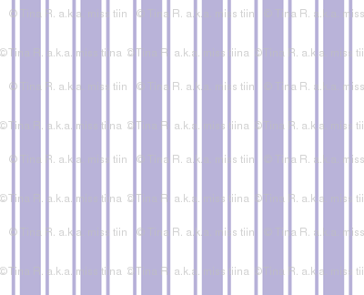 ticking stripes light purple and white