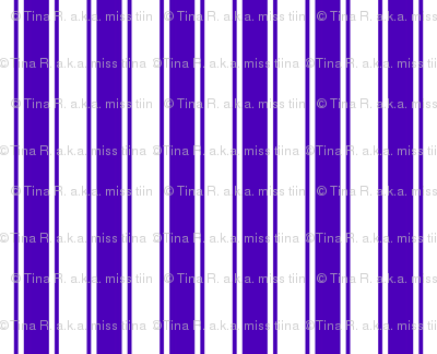 ticking stripes purple and white